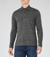 Reiss Reiss Motion - Button Through Shirt In Grey