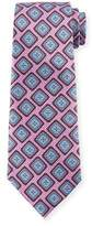 Ermenegildo Zegna Medallion Print Silk Scarf, Pink