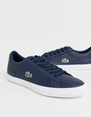 Lacoste Lerond sneakers in navy leather