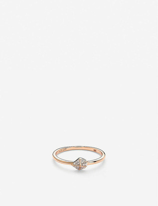 Kendra Scott Fazia 14ct rose-gold and white diamond ring