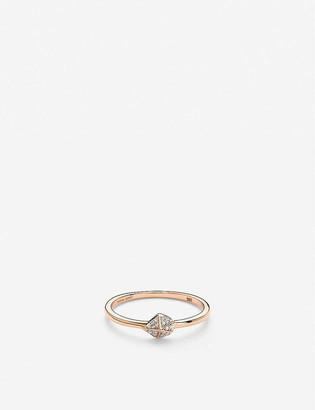 Kendra Scott Fazia 14ct rose-gold and white diamond ring