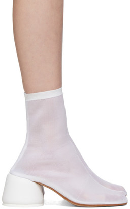 MM6 MAISON MARGIELA White Thin Sock Boots