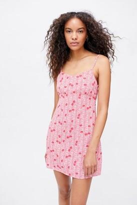 Glamorous Cherry Fitted Mini Dress