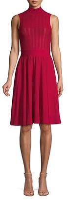 Herve Leger Sleeveless Highneck Knit Dress