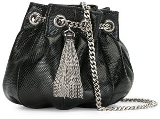 Saint Laurent Mini Tassel Bucket Bag