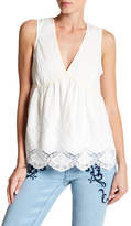 Romeo & Juliet Couture V-Neck Embroidered Tank