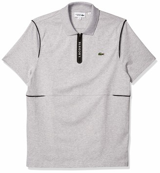 Lacoste Men's Sport Short Sleeve Zip Jersey Polo Shirt