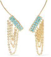 Noir Gold-Tone Stone Earrings