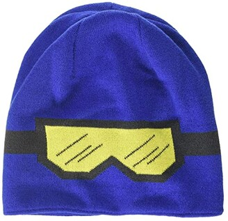 Lego Kids Snow Beanie with Goggles Pattern (Little Kids/Big Kids) (Blue) Caps