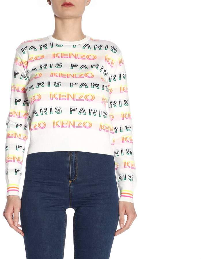 f82a154392a Kenzo White Women's Sweaters - ShopStyle