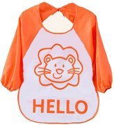 Doinshop 1PC Kids Child Cartoon Apron Translucent Plastic Soft Baby Waterproof Bibs