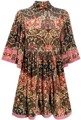 L'Autre Chose Floral-Print Short Dress