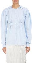 Loewe Women's Cotton Smocked-Shoulder Blouse