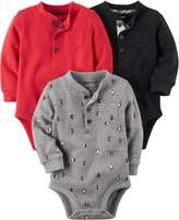 Carter's Baby Boys 3-pk. Holiday Thermal Bodysuits