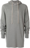 Rick Owens long hoodie - men - Cotton - S