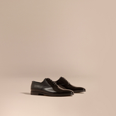 Burberry Polished Leather Lace-up Evening Shoes
