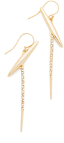 Alexis Bittar Crystal Modernist Spear Drop Earrings
