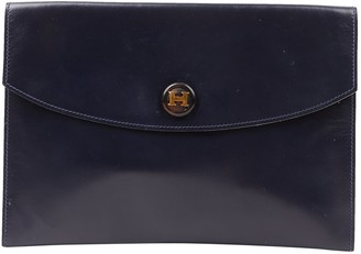 Hermes Rio Navy Leather Clutch bags