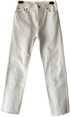 Celine White Cotton Jeans