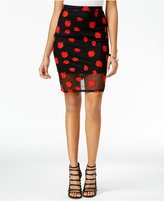 Material Girl Juniors' Embroidered Pencil Skirt, Only at Macy's
