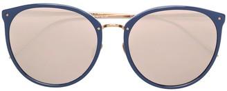 Linda Farrow Oversized Round Frame Sunglasses