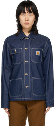 Carhartt Work In Progress Blue Denim Michigan Chore Jacket