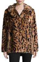 7 For All Mankind Faux Fur Long Sleeve Jacket