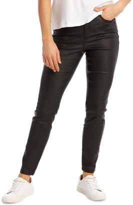 Grab Coated High Waist Skinny Jean