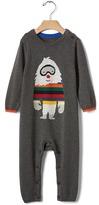 Gap Bright stripe yeti sweater one-piece