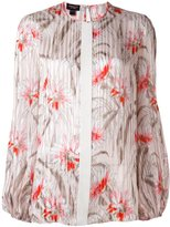 Giambattista Valli striped floral print blouse