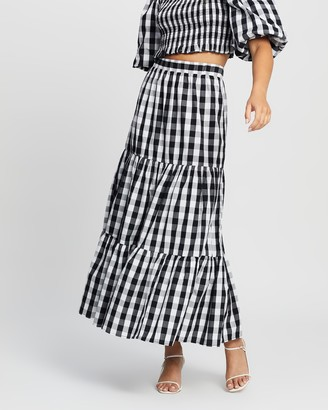 Atmos & Here Atmos&Here - Women's Black Maxi skirts - Jayne Cotton Skirt - Size 12 at The Iconic