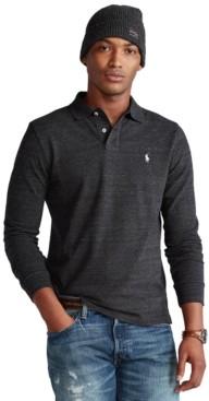 Polo Ralph Lauren Men's Big & Tall Mesh Long-Sleeve Polo Shirt