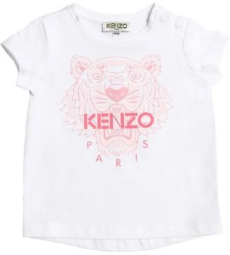 Kenzo Tiger Print Cotton Jersey T-shirt