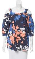 Timo Weiland Printed Off-The-Shoulder Top w/ Tags