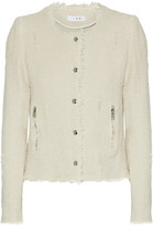 IRO Frayed Cotton-tweed Jacket - Ecru