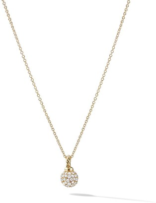 David Yurman 18kt yellow gold Solari diamond pendant necklace