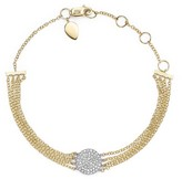 Meira T 14K White Gold and Yellow Gold Pavé Diamond Disc Bracelet