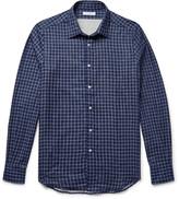 Boglioli - Slim-fit Double-faced Checked Cotton Shirt