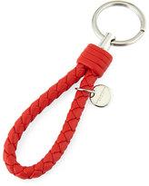 Bottega Veneta Intrecciato Lambskin Key Ring, Red