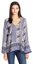 Lucy-Love Lucy Love Women's Moon Child Printed Top