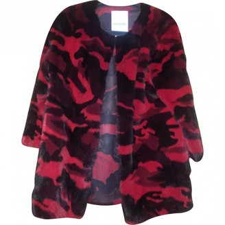 Valentino Red Mink Coat for Women