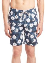 "Onia Charles 7"" Floral Print Swim Trunks"