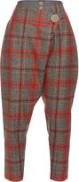 Vivienne Westwood Flap dropped-crotch tartan wool trousers