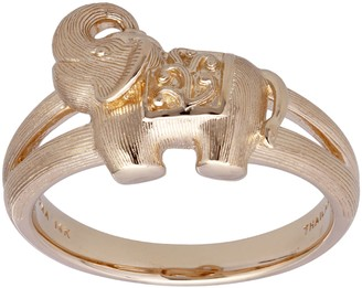 14K Gold Exuberant Elephant Ring