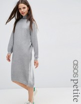 Asos Midi Dress in Knit with High Neck