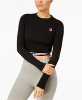 Fila Colleen Cropped Long-Sleeve Top