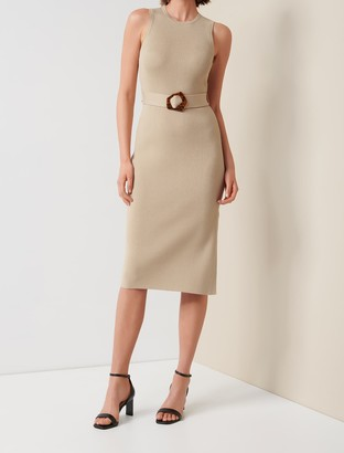 Forever New Imogen Sleeveless Midi Knit Dress - Brick Wash - 12