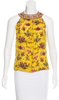 Jean Paul Gaultier Silk Embroidered Top