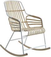 Casamania Horm & Raphia Rocking Chair - White