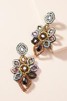 Anthropologie Beaded Floral Drop Earrings